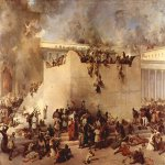 Francesco Hayez (1791-1882)  Destruction of the Temple of Jerusalem  Oil on canvas, 1867  183 &#215; 252 cm  Galleria d'Arte Moderna, Venice, Italy